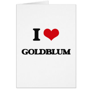Amo Goldblum Tarjeta De Felicitación