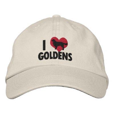 Amo Goldens Gorra De Beisbol Bordada
