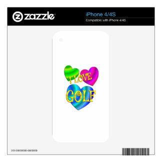 Amo golf calcomanías para iPhone 4S