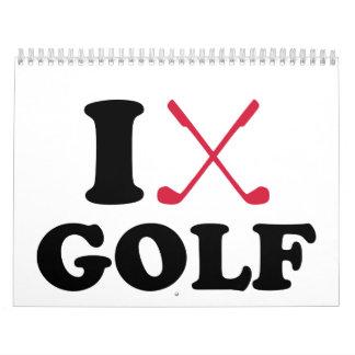 Amo golf calendarios de pared