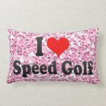 Amo golf de la velocidad almohadas
