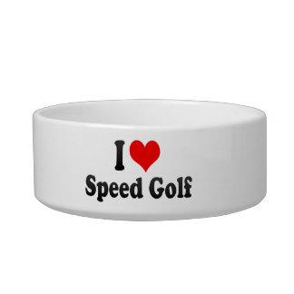 Amo golf de la velocidad tazón para comida gato