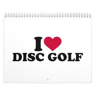 Amo golf del disco calendarios