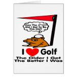 Amo golf felicitacion