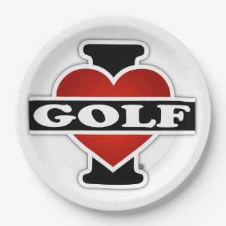 Amo golf plato de papel de 9 pulgadas