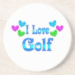 Amo golf posavasos personalizados