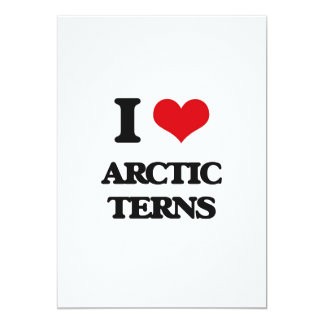 Amo golondrinas de mar árticas invitación 12,7 x 17,8 cm