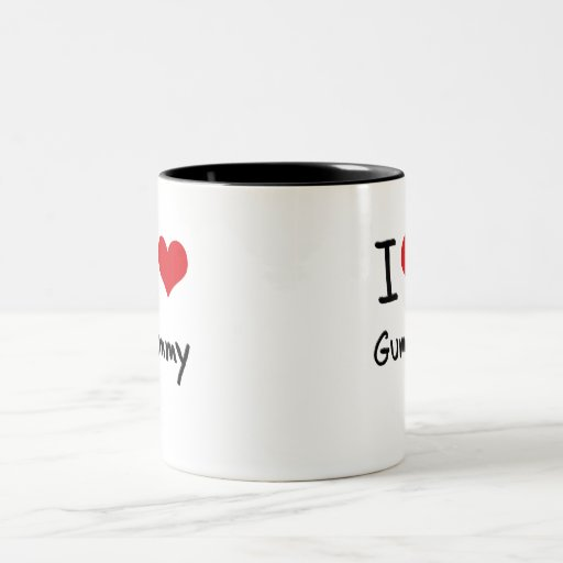 Amo gomoso taza de dos tonos