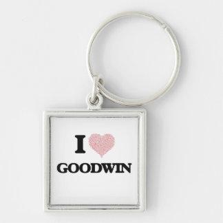 Amo Goodwin Llavero Cuadrado Plateado