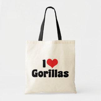 Amo gorilas bolsa tela barata