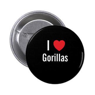 Amo gorilas pin redondo de 2 pulgadas