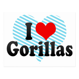 Amo gorilas postal