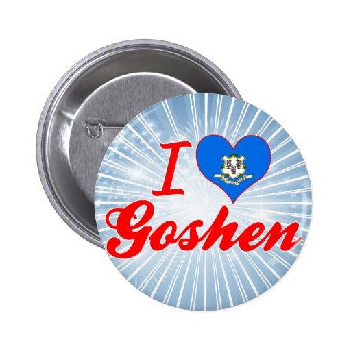 Amo Goshen, Connecticut Pin Redondo 5 Cm