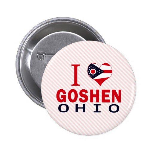 Amo Goshen, Ohio Pin Redondo 5 Cm