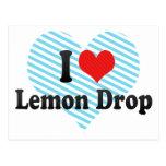Amo gota de limón postal
