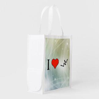 Amo gráficos poligonales bolsa para la compra