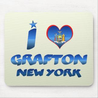Amo Grafton Nueva York Alfombrilla De Ratones
