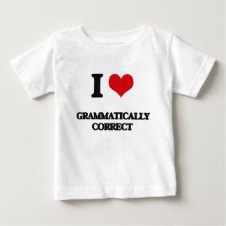 Amo gramatical correcto playeras