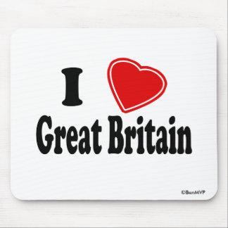 Amo Gran Bretaña Tapete De Ratones