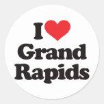 Amo Grand Rapids Pegatinas Redondas