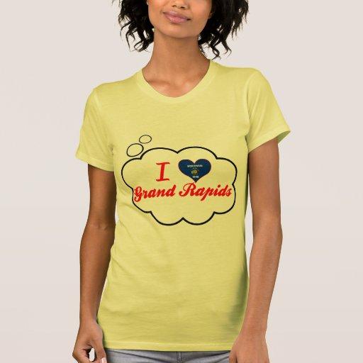 Amo Grand Rapids, Wisconsin Camisetas