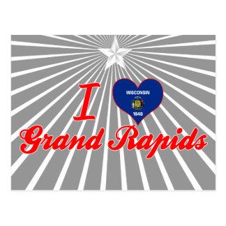 Amo Grand Rapids, Wisconsin Tarjetas Postales