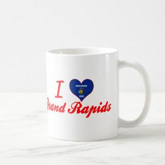 Amo Grand Rapids, Wisconsin Taza Básica Blanca