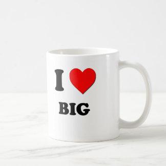 Amo grande taza básica blanca