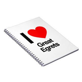 amo grandes egrets notebook