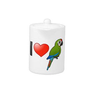 Amo grandes Macaws verdes