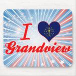 Amo Grandview, Indiana Alfombrilla De Ratón