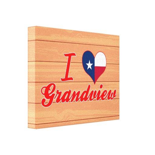 Amo Grandview, Tejas Impresión En Lienzo Estirada