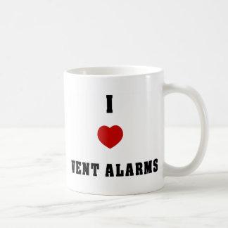 Amo granjas del respiradero taza de café