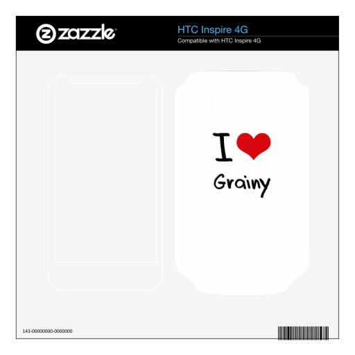 Amo granoso calcomanía para HTC inspire 4G