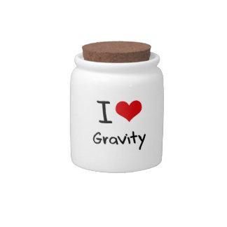 Amo gravedad plato para caramelo