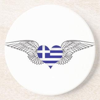 Amo Grecia - alas Posavasos Manualidades