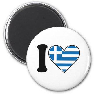 Amo Grecia Imán Redondo 5 Cm
