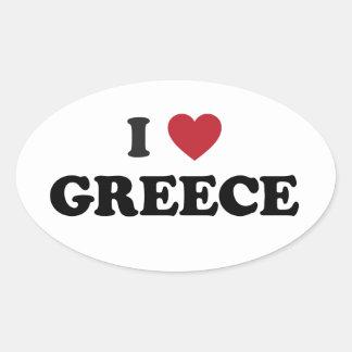 Amo Grecia Colcomanias De Óval