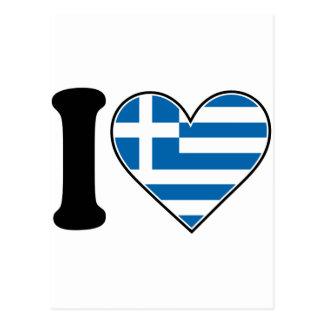 Amo Grecia Tarjeta Postal