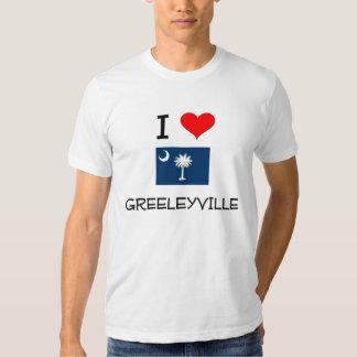 Amo Greeleyville Carolina del Sur Playera