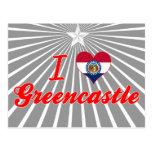 Amo Greencastle, Missouri Tarjeta Postal