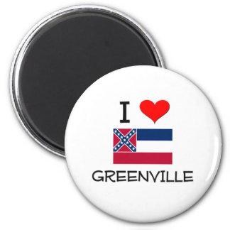 Amo Greenville Mississippi Imán Redondo 5 Cm