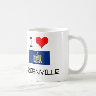 Amo Greenville Nueva York Taza Clásica