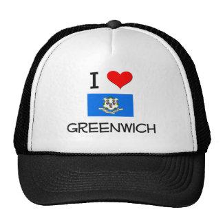 Amo Greenwich Connecticut Gorros Bordados