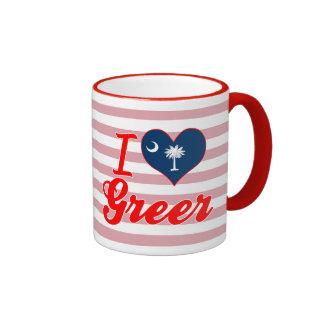 Amo Greer Carolina del Sur Taza