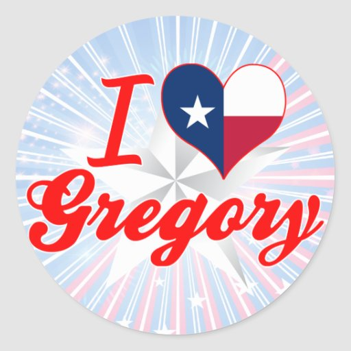 Amo Gregory, Tejas Pegatina Redonda