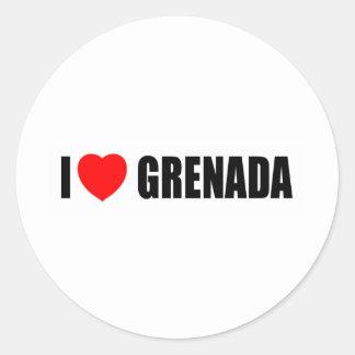 Amo Grenada Etiquetas Redondas