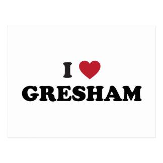 Amo Gresham Oregon Tarjeta Postal