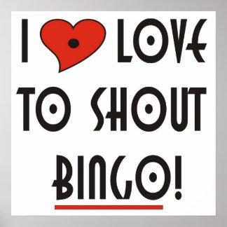 Amo gritar bingo póster