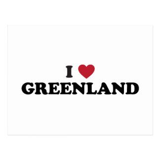 Amo Groenlandia Tarjetas Postales